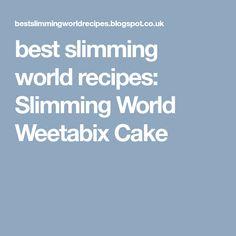 best slimming world recipes: Slimming World Weetabix Cake Syn Free Cake, Slimming World Chocolate Cake, Weetabix Cake, Baking Recipes, Diet Recipes, Recipies, Syn Free Food, Slimming Word, Slimming World Recipes Syn Free
