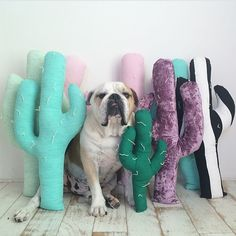 Cactus Pillows by Napkin Apocalypse