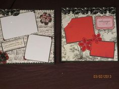 wedding scrapbook ideas black and red | Wedding scrapbook page