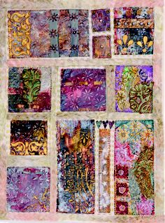 Beryl Taylor - samples on metal I love the fabric. not sure if this pin is for fabric or embroidery. I will have to go see the whole board because obviously I have not heard of this person like the one who has a whole board pinned of her stuff