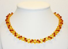 Luxury Baltic amber necklace round shots beads 133 by LinasAmber