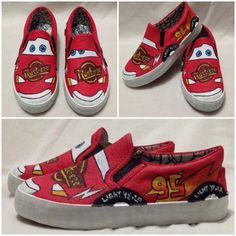 Cars - TinTon's Handpainted Shoes -  Visit us  @ https://facebook.com/tintonsshoes Http://i.instagram.com/tintonsshoes/ For more shoe designs :D - Handpainted . Personalized . Customized Shoes - By: Tin & Ton