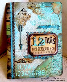 yaya scrap & more: AFTER MUCH TIME ...... for a Vintage Journey using Tim Holtz, Ranger, Idea-ology, Sizzix and Stamper's Anonymous products; Mar 2015