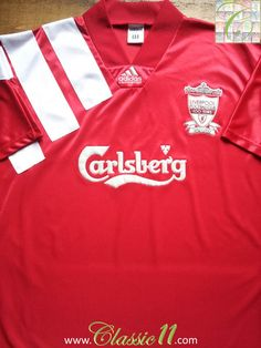 c809a58fa Relive Liverpool s 1992 1993 season with this vintage Adidas home football  shirt. Liverpool Fc
