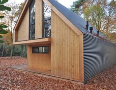 Recreatiewoning Eefde | BONGERS architecten bna Modern Wooden House, Modern Barn House, Granny Pods, Barn House Kits, Small Villa, A Frame House Plans, Villa Plan, Best Tiny House, House In Nature