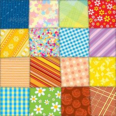 Quilt Patchwork Texture. Seamless Vector Pattern  #GraphicRiver         Quilt Patchwork Texture. Funky Textile. Seamless Vector Patter  	 - vector illustration with simple gradients  	 - vector graphics with CMYK colors for print  	 - zip file contains images: AI, CDR, EPS, JPG  	 Keywords: stitching, swatch, backdrop, design, patch, retro, seam, square, stitch, texture, wallpaper, template, fun, assorted, cover, cotton, blanket, fancy, wrap    	   MORE VECTOR DESIGN ELEMENTS, TEMPLATES…