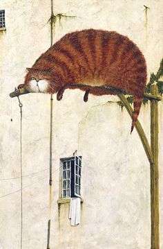 De Montfort Fine Art - Cyril Croucher Safe Cat. Click for larger image