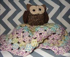 Owl lovie Amigurumi animals on blankets for sale on etsy