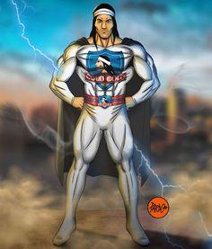 PARDO: Ilustración, Caricaturas y Cómics personalizados: SUPER CACIQUE