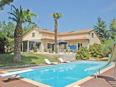From the spacious terrace and private swimming pool there are panoramic views over the surrounding countryside.