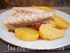Doradas-al-horno-con-patatas-en-fussioncook Tapas, Sliced Potatoes, Recipes, El Dorado, Healthy Food, Meals