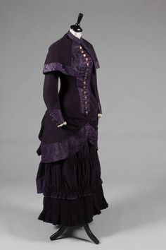 "fripperiesandfobs: "" Mourning dress, 1880-85 From Kerry Taylor Auctions """
