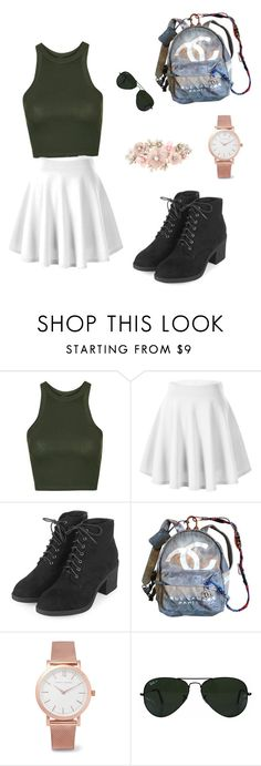 """Summer J.S"" by juskirnshoker ❤ liked on Polyvore featuring Topshop, Chanel, Larsson & Jennings, Ray-Ban and Accessorize"