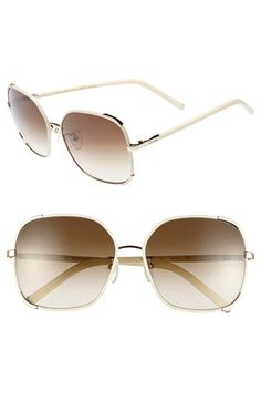 Chloe 'Nerine' 58mm Sunglasses available at #Nordstrom