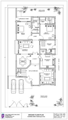 500 Square yard House Ground Floor Plan x 500 Square yard House Ground Floor Plan x Ghar Plans Pakistan gharplanspakist Floor Plans / Layout Plans 500 […] Room entrance Free House Design, House Front Design, Modern House Design, House Plans Mansion, Duplex House Plans, Modern Family House, Modern House Floor Plans, Indian House Plans, Bad Room Ideas