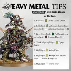 'Eavy Metal Tips Games Workshop - Painting Techniques Warhammer Paint, Warhammer Models, Warhammer 40000, Painting Tips, Painting Techniques, Painting Tutorials, Tabletop, Warhammer 40k Miniatures, Game Workshop
