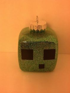 Minecraft Slime Ornament can be personalized by JustAnAwesomeMom, $6.00