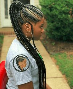 today we have different collections of cornrow braid styles that will be of much interest to you. The 2019 cornrow braid styles is one of a kind Cornrows, Cornrow Braid Styles, Ponytail Braid Styles, Black Girl Braids, Braids For Black Hair, Girls Braids, Feed In Braids Ponytail, Braided Ponytail, Curly Ponytail
