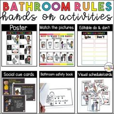 Bathroom Rules Kindergarten | Hands-on school and home activities