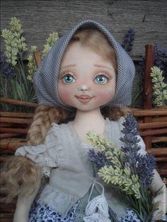 Коллекционные куклы ручной работы. Ярмарка Мастеров - ручная работа. Купить Садовница Полинка. Handmade. Голубой, кукла текстильная