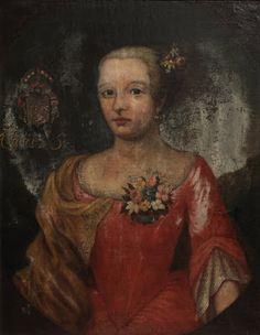 Portrait d'une femme en robe rose, XVIIIe siècle