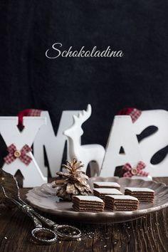 Schmeckt wie Eiskonfekt: Schokoladina - bestehend aus Schichten einer Schokoladenmasse, getrennt von Oblaten. Einfach gemacht ohne backen.