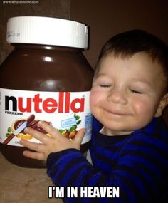 Because Nutella is pure magic made in the land of yum. Start spreading, my friends. 15 Signs You're Addicted To Nutella Nutella Jar, Nutella Quotes, Jeff The Killer, Chocolates, Funny Images, Funny Pictures, Funny Pics, What Meme, Recipes