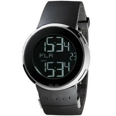 f200089fc1c This Gucci women s black digital watch will get you where you need to be  right on time.