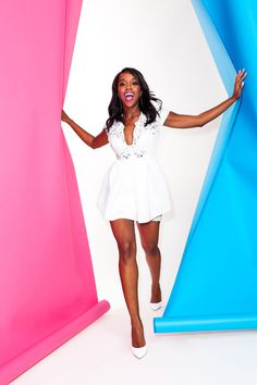 """teenageafropolitan: """"superselected: """"'How To Get Away With Murder' Star Aja Naomi King Features in Refinery 29. """" her shoes"""