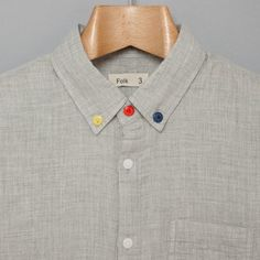 3 Button Shirt - Grey