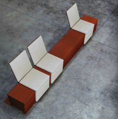 Contemporary public bench in corten steel (with backrest) CORTOMADERE METALCO