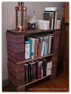 In this tutorial we show you exactly how to build a brick book shelf to give your home a really unique, rustic and character-rich piece of furniture.
