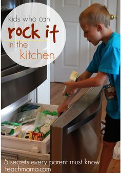 kids who can rock it in the kitchen | teachmama.com --> check it out. a MUST read for every family