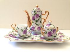 Vintage Child's Lefton China Style Porcelain Tea or Coffee Set