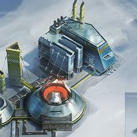 Concept art for Anno 2205. Health Center on the moon - creating buildings for Anno 2205 always means finding a good remarkable shape and ideally show the function of the building. Especially on the moon this means I had to find a good balance between realism and symbolism and of course emotion. So at the one hand this made it sometimes really tricky, but at the other hand there were often a lot of possibilities I could explore finding a good solution.