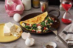 Das Rezept für Omelett mit Spinat und Feta mit allen nötigen Zutaten und der einfachsten Zubereitung - gesund kochen mit FIT FOR FUN