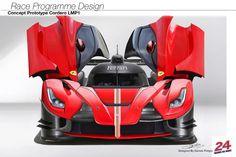 Race Programme Design  Le Mans Ferrari LMP1 by Daniele Pelligra hypercars (8)