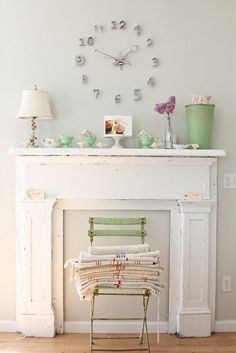 love the shabby chic look of this vignette by Diane-Dublin,Ireland.