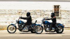 Blue Harley Davidson