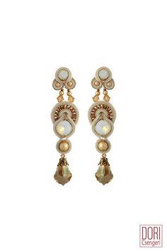 IDO-E305 , idoe305 , statement earrings , bridal earrings , gold earrings ,