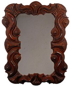 My favorite of all the tramp art mirrors/frames