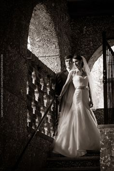 Such a perfect portrait of the bride and groom! Wedding at Wesley United Methodist Church, St. Simons Island, GA