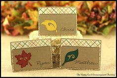 Placecard idea for Thanksgiving:  The Happy Card Encouragement Factory: Thanksgiving Place Cards