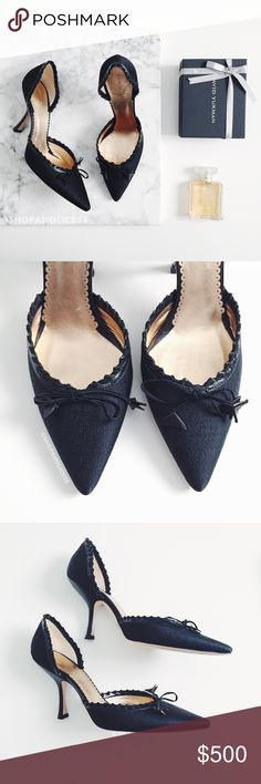   GIORGIO ARMANI Bow Monogram D'orsay Pumps giorgio armani  pointed toe bow d'orsay pumps  ⠀† size: 36  ⠀† color: black ⠀† monogram canvas   ⠀† leather sole & insole ⠀† point toe ⠀† bow detail  ⠀† original box & dust bag included ⠀† made in italy ⠀† new in box; marks & scratches on bottom ⠀sole due to trying on in store  disclaimer: ⠀✗ i do not trade ⠀✗ no lowballing ⠀✓  i'm open to reasonable offers ⠀✓  more savings when you bundle Giorgio Armani Shoes Heels