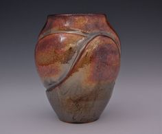 Raku Sunset Colorful Ceramic Vase by CeciCapenClayStudio on Etsy