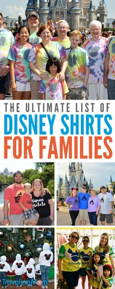 The best collection of Disney shirts for family! Everything from shirts you can DIY yourself with vinyl to funny shirts you can buy for the whole family! Cute matching options for kids, for women, and of course for men! #disney #disneyshirts #DIY #DisneyDIY #familytravel