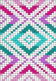 Rautenmuster in abgestuften Farben The post Rautenmuster in abgestuften Farben appeared first on PINK DiY. Tapestry Crochet Patterns, Mosaic Patterns, Loom Patterns, Cross Stitch Patterns, Quilt Patterns, Graph Paper Drawings, Graph Paper Art, Crochet Chart, Crochet Stitches