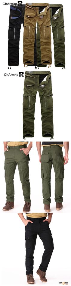Flash Deal: US$43.97 + Free shipping. ChArmkpR Thick Loose Mens Winter Polar Fleece Lined Windproof Cargo Pants. US Size:30-46. Color:Khaki, Army Green, Black >>> To view further, visit now.