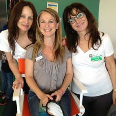 .... another pix of that day at UCLA cancer ward ! Love working with  BeautyBus.org