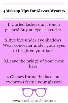 Here are 4 foolproof tips to look your best while wearing makeup with glasses!